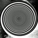 Zone crépusculaire d'abrégé sur peinture de Digital à l'arrière-plan noir et blanc illustration de vecteur