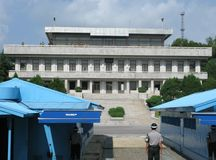 Zone démilitarisée Corée de Panmunjeom Images stock