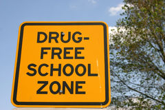 Zone d'école libre de drogue Photos libres de droits