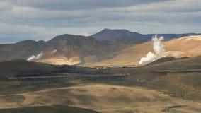 Zone d'énergie géothermique Photo stock