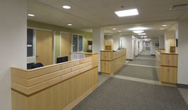 Zone d'accueil d'hôpital photos stock