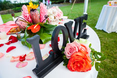 Zone d'accueil de mariage Photographie stock libre de droits