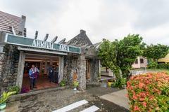 Zone d'arrivée de sept 20,2017 chez Basco Airport, Batanes Image libre de droits