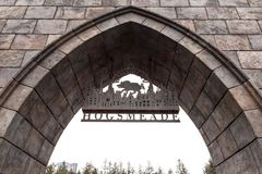 Zone d'attraction de Harry Potter de connexion de village de Hogsmeade au studio universel Japon photos stock