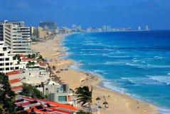Zone d'hôtel dans Cancun, Mexique Photographie stock