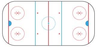 Zone d'hockey Images libres de droits