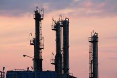 Zone d'industrie de centrale pétrochimique Image libre de droits