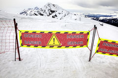 zone dangereuse Photographie stock