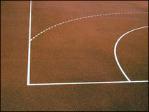 Zone de basket-ball Image libre de droits