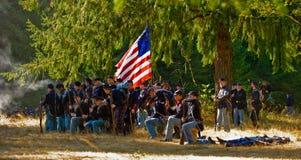 Zone de bataille de guerre civile Images libres de droits