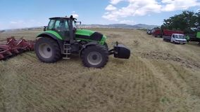 Zone de blé Saison de récolte de blé banque de vidéos
