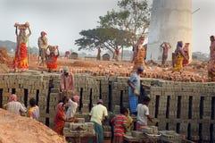 Zone de brique en Bengale-Inde occidentale Photo stock