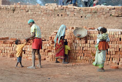 Zone de brique indienne Images libres de droits