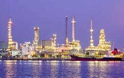 Zone de centrale de raffinerie Image libre de droits