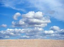 Zone de collectes avec le ciel nuageux bleu photos stock
