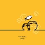 Zone de confort linéaire d'illustration d'affaires de vecteur comme aquarium illustration de vecteur
