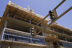 Zone de construction dans Tucson du centre Arizona Image stock