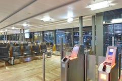 Zone de contrôle de carte d'embarquement d'aéroport Backgroun de voyage et de tourisme Photos libres de droits