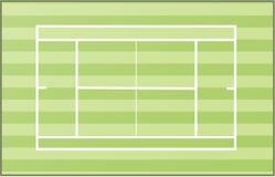Zone de court de tennis Image libre de droits