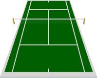 Zone de court de tennis en vert Image stock
