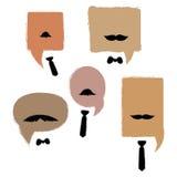 Zone de dialogue avec des moustaches et des liens Une collection de zones de dialogue de vecteur pour les hommes Illustration de Vecteur