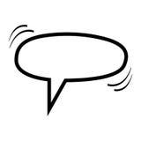 zone de dialogue monochrome de forme d'ellipse de silhouette illustration libre de droits