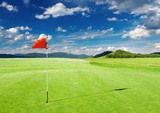 Zone de golf images libres de droits