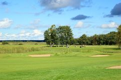 Zone de golf Photo libre de droits