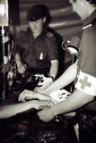 Zone de guerre d'hôpital d'armée Photographie stock libre de droits