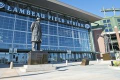 Zone de Lambeau, maison des emballeurs de Green Bay de NFL Photo stock