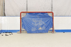 Zone de lancement d'hockey - portes et joints illustration stock