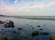 Zone de marée Photo stock
