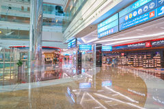 Zone de marchandises hors taxe d'aéroport de Dubai International Image stock
