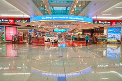 Zone de marchandises hors taxe d'aéroport de Dubai International Photographie stock