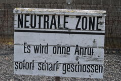 Zone de Neutrale Photo stock