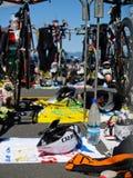 Zone de passage de cycle dans l'événement. Image stock