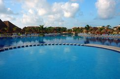 Zone de piscine Photos stock