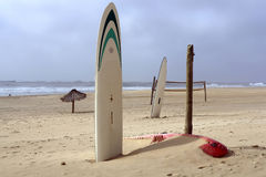 Zone de plage de sport Photographie stock libre de droits