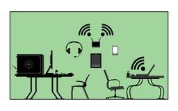 Zone de réseau illustration de vecteur