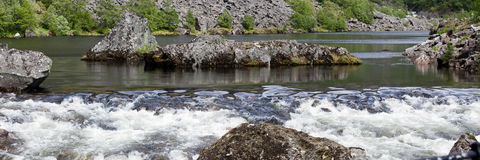 zone de rapids Photographie stock