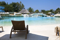 Zone de regroupement de luxe de ressource de vacances Photo stock