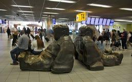 Zone de repos dans l'aéroport d'Amsterdam Schiphol Images stock