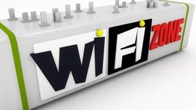 Zone de signe de WiFi Photos stock