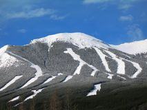 Zone de ski de Nakiska Photos libres de droits