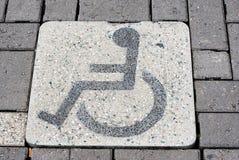 Zone de stationnement handicapée Image stock