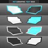 Zone de texte d'Infographic Photographie stock