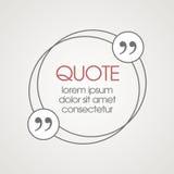 Zone de texte de citation Vue pour la citation de décoration et illustration stock
