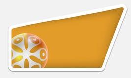 Zone de texte jaune illustration stock