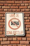 Zone der freien Schule der Droge lizenzfreie stockfotos