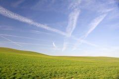 Zone et ciel Photographie stock